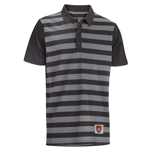 Junior Polo, Folsom Black/Steel Stripes