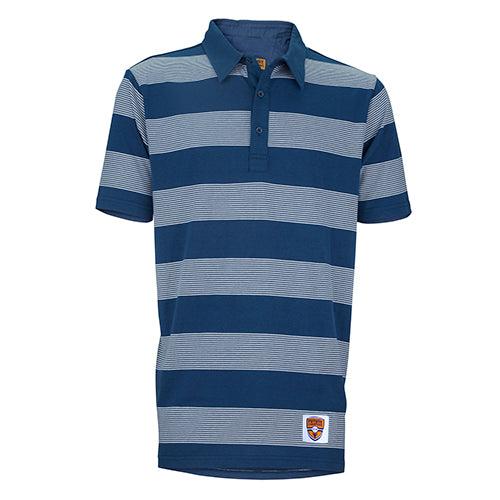 Junior Polo, Stripe Show, Navy/White Stripes