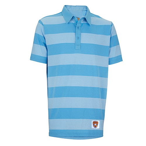 Junior Polo, Stripe Show, Periwinkle/White Stripes
