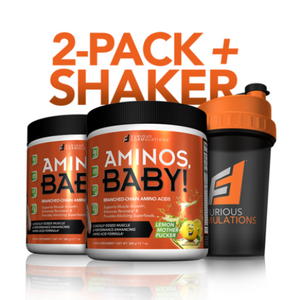 AMINOS, BABY! | BCAAs | 2-PACK + FREE SHAKER - FURIOUS FORMULATIONS Inc