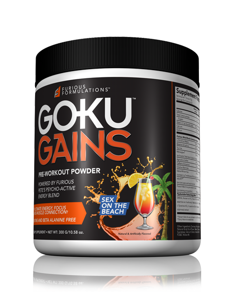 GOKU GAINS | PRE-WORKOUT | Sex on the Beach Flavor