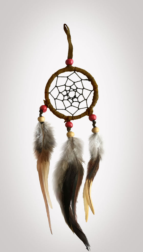 "Item #owg007 – 1 Dozen 2-1/2"" Chocolate Brown 3 Drop Dream catcher Sets"