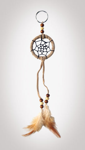 "Item #owg008 – 2"" Tan Dream catcher Keychains"