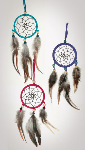 Item #owg015 - 1 Dozen 3 Drop Dream catcher Set (Cool colors).