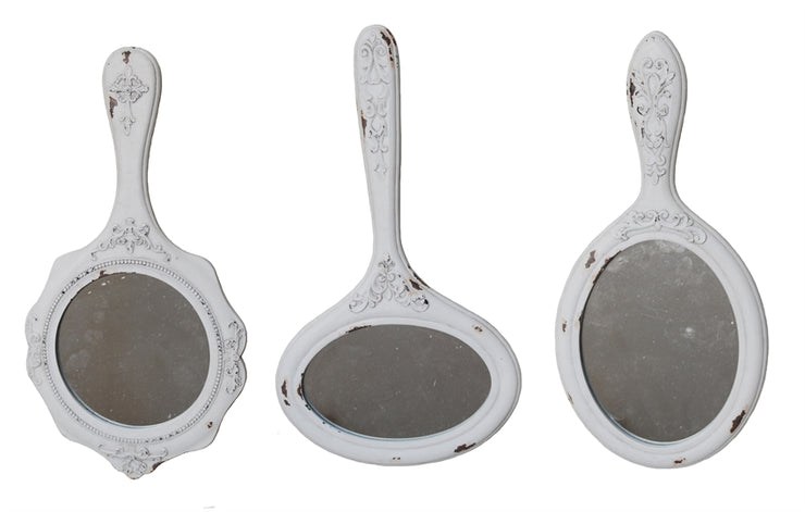 Wall Hand Mirrors Set of 3
