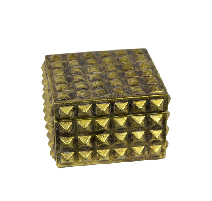 "Gold 5.5"" Studded Box"