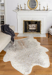 Faux Hide Metallic Gold Rug
