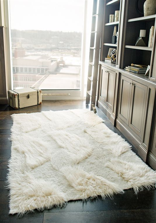 Faux Ivory Fur Rug