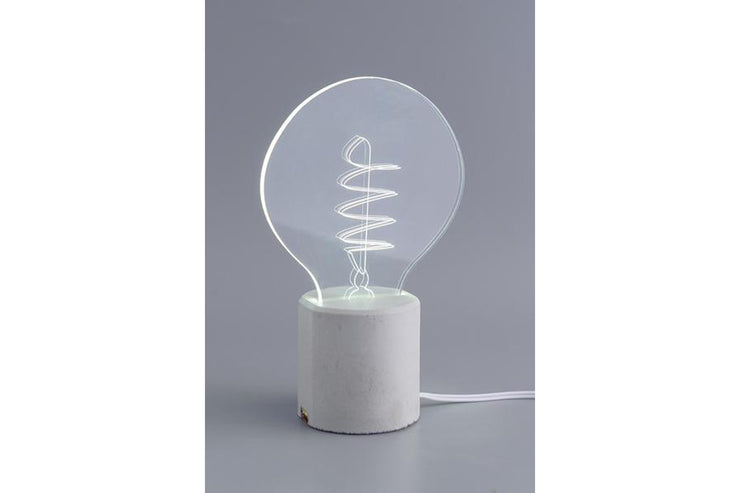Swirl Bulb Desk Lamp