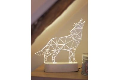 Howling Wolf Desk Lamp
