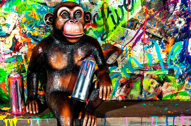 3D Monkey Love Painting