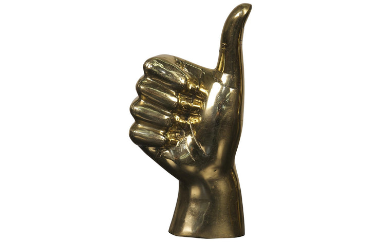 Brass Thumbs Up Sign Sculpture