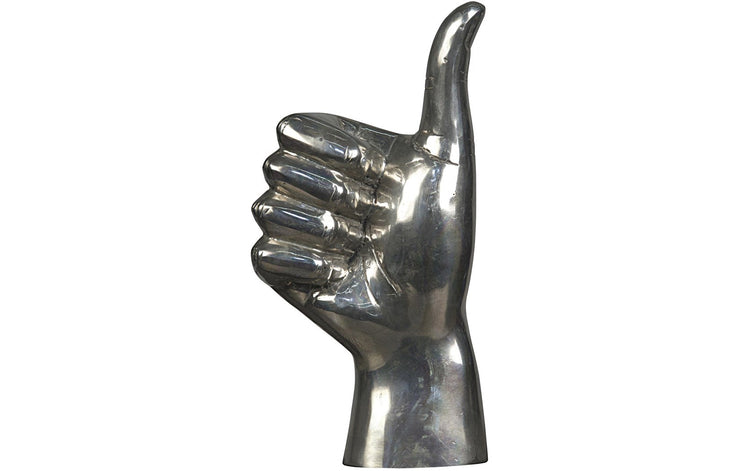 Silver Thumbs Up Sign Sculpture
