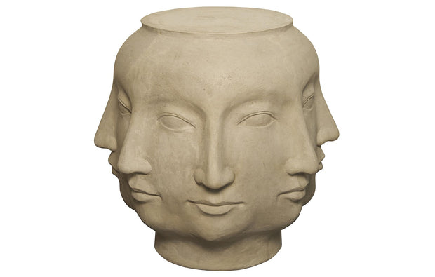Multi-Face Stone Stool