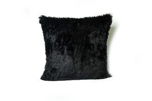 Open image in slideshow, Faux Alpaca Pillow Black