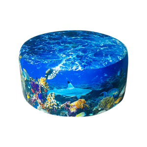 Open image in slideshow, Underwater Aquarium Ottoman
