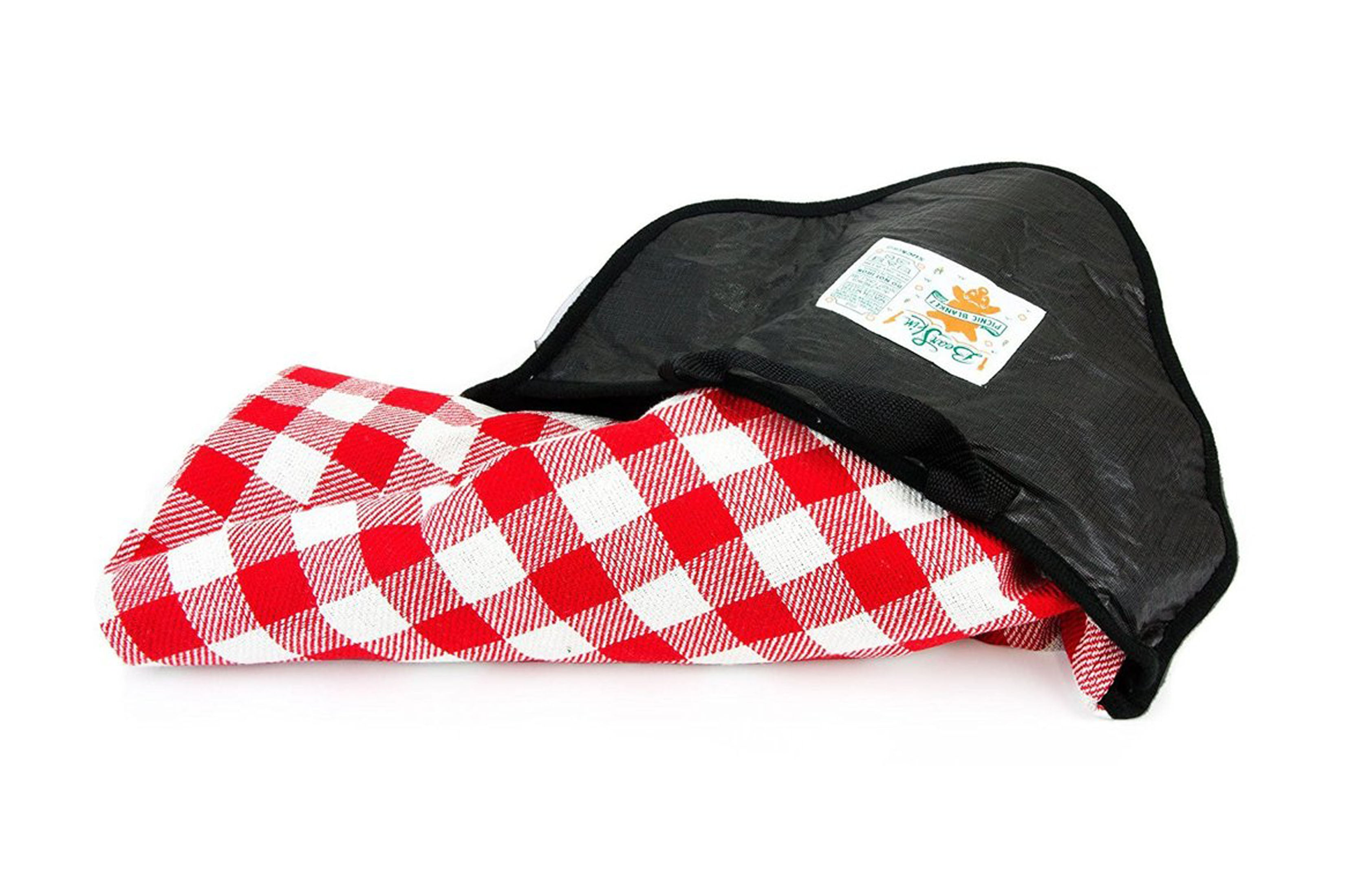Plaid Bear Skin Picnic Blanket