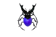 Beetle Hand-Blown Glass Purple (Small)