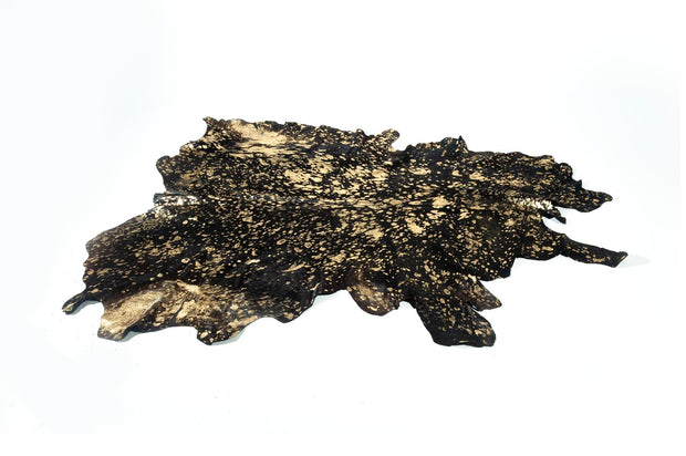 Black W/ Gold Metalic Animal Hides