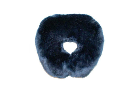 Steel Blue Mink Faux Fur Travel Neck Pillow