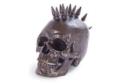 Bronze Studded Skull Head