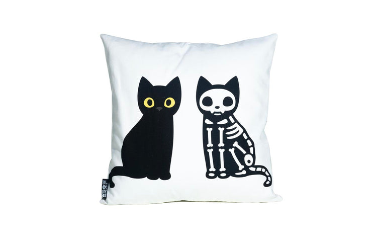Cat Skeleton Pillow