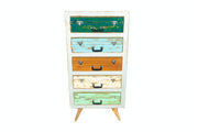 Colorful Suitcase Dresser