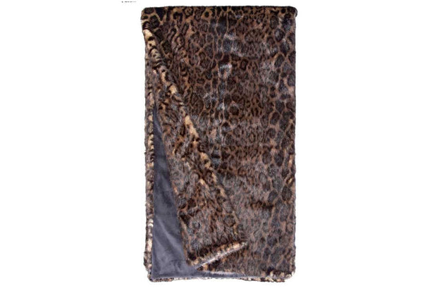 Dark Leopard Grand Size Throw