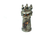 Silver Distressed Dog Chess Pieces