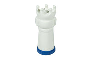 White & Blue Dog Chess Pieces