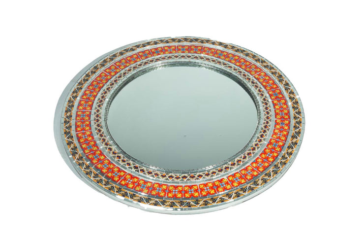 Round Mirror with Talvaera