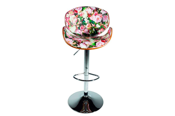 Floral print barstool