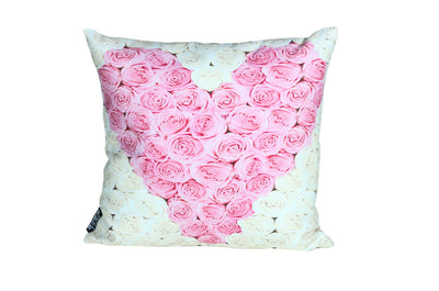Pink rose Heart Pillow