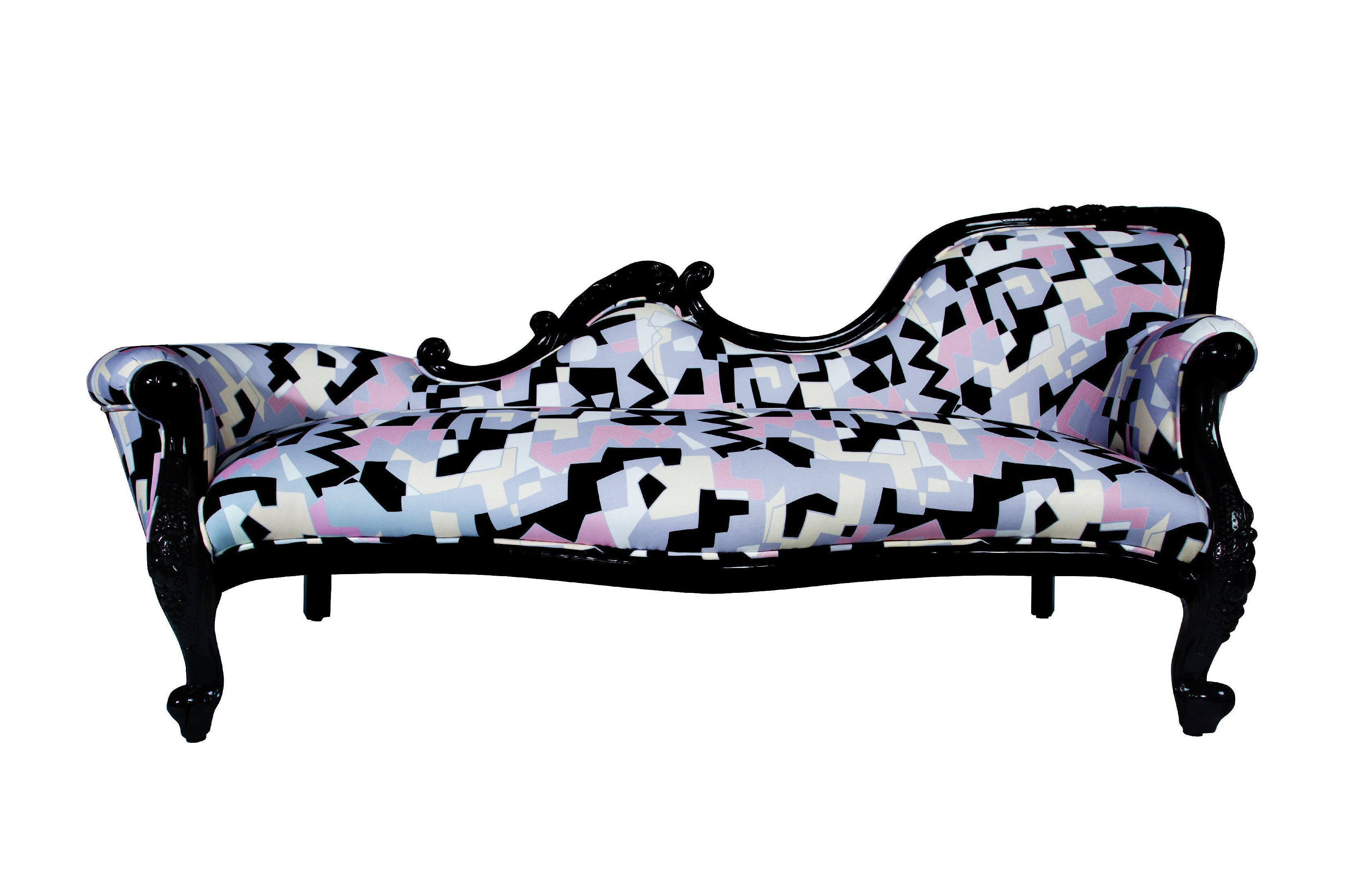 Multi colored Left & Right Love Seats/sofas chaise lounge (set of 2)