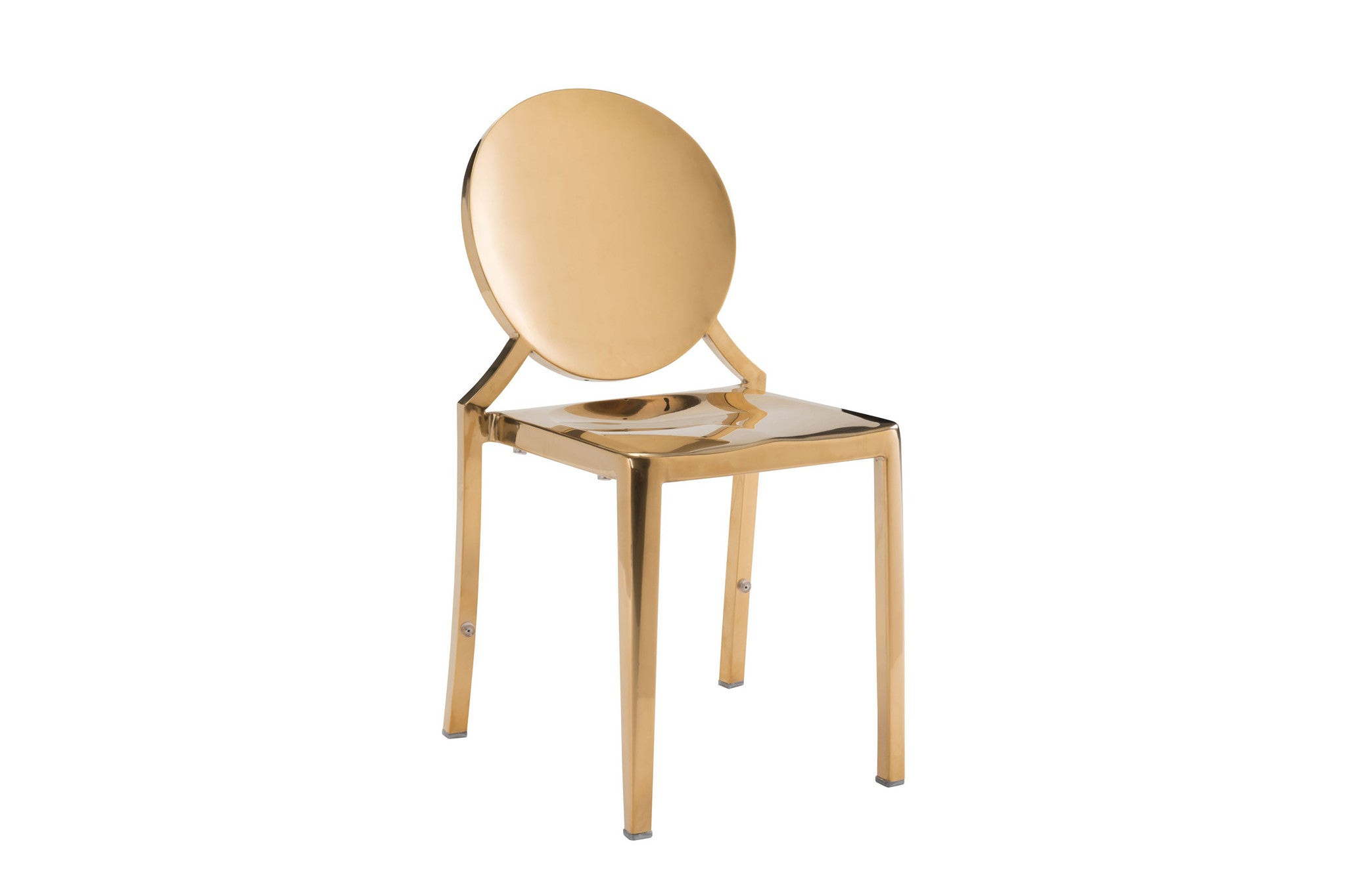 Polished Gold Dining Chair