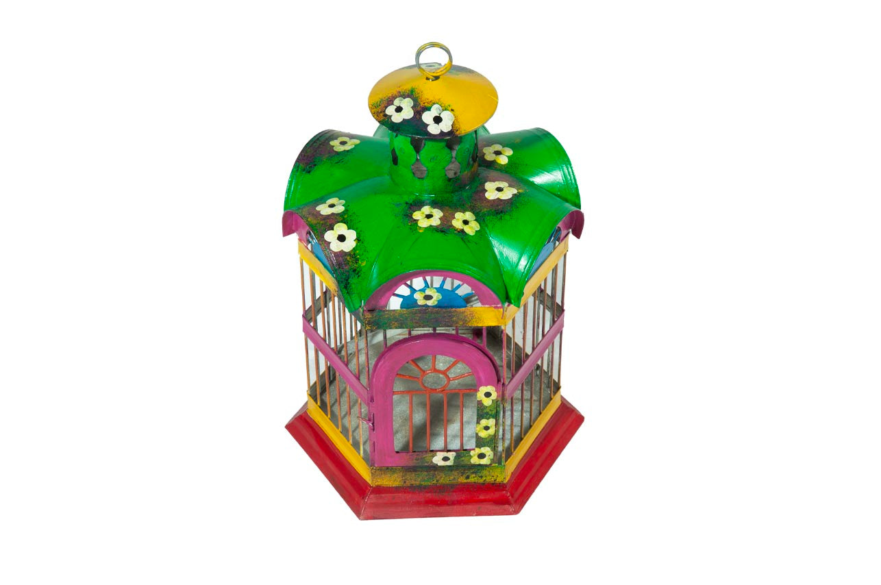 Colorful Birdcage- Medium