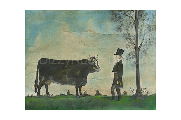 Man with Prized Cow