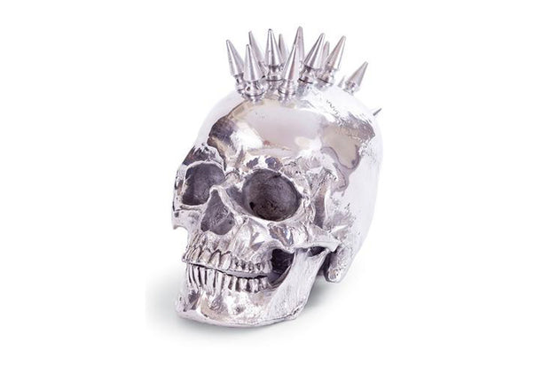 Nickel Studded Skull Head