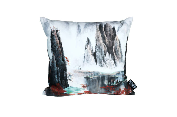 Painted Mountains 2 Pillow