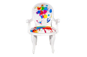 Splater Print Arm Chair