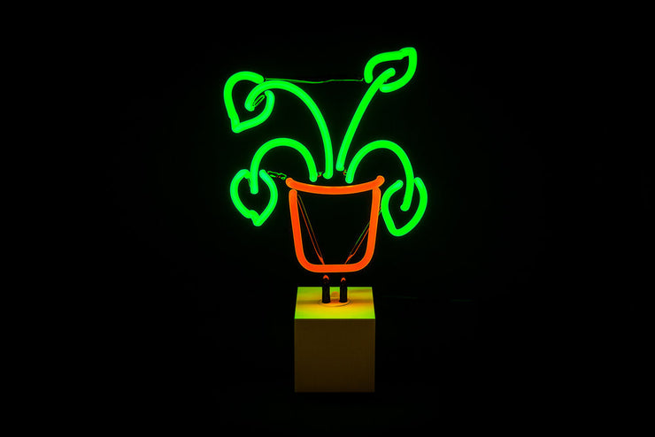 Plant Neon Table Light