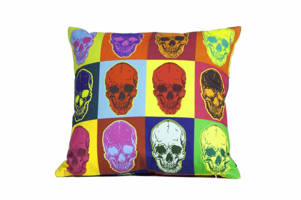 Skull Pop Art Pillow