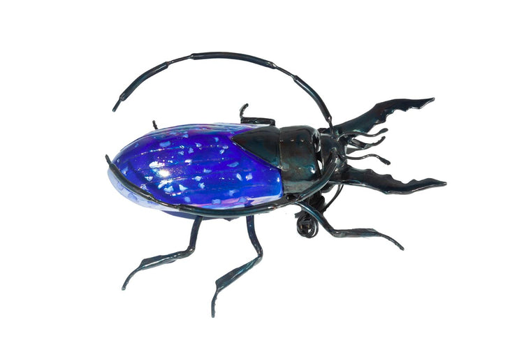 Beetle Hand-Blown Glass Purple (Large)