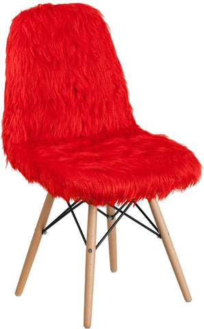 Shaggy Red Chair