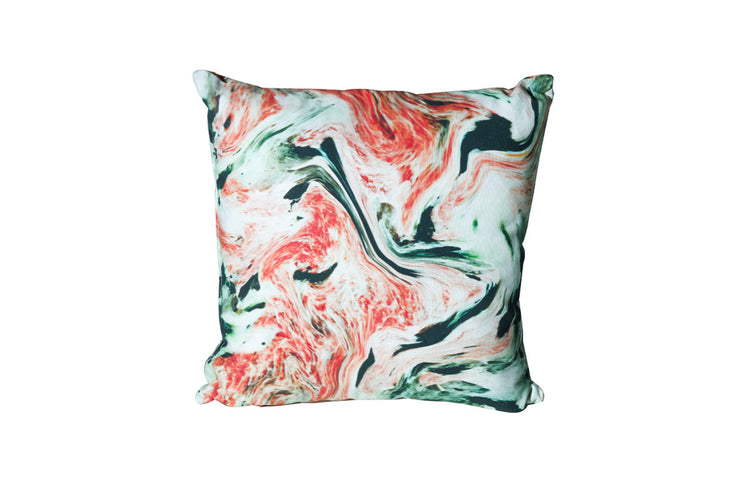 Red & Green Swirl Pillow