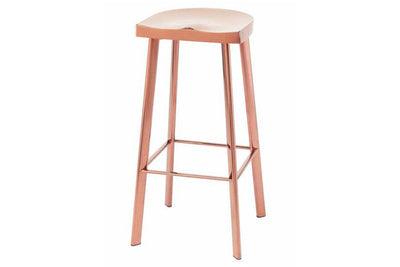 Rose Gold Stainless Steel Bar Stool