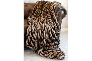 Shadow Mink Couture Faux Fur Throw