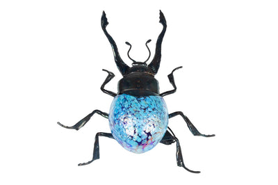 Beetle Hand-Blown Glass Light Blue (Small)