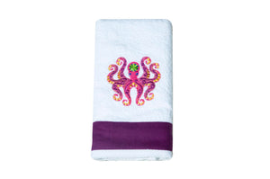 Open image in slideshow, Embroidered Octopus Kitchen Towel