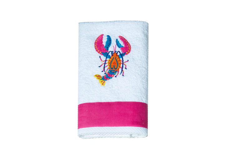Embroidered Lobster Kitchen Towel